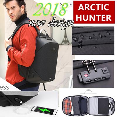 987d288bbca7 Arctic Hunter Backpack Waterproof Man Computer Rucksack Travel Bag School Bags  15.6 Women Bagpack