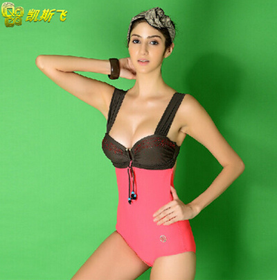 e671a3ac4ee6b Are slim triangular one-piece shaping female small chest bra swimsuit  gathered steel holders1时尚