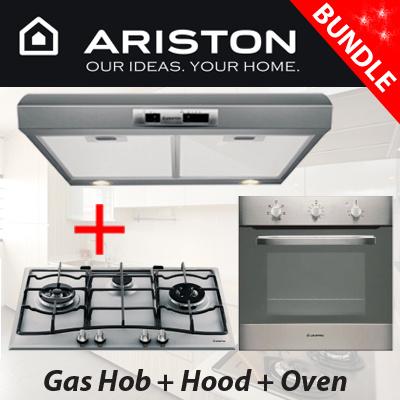 ariston  package  3 burners gas hob   hood   58l built in oven pc730rtix qoo10   ariston  package  3 burners gas hob   hood   58l built in      rh   qoo10 sg
