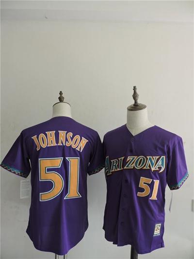 ce847b434 ireland arizona diamondbacks mens jerseys 51 randy johnson purple baseball  jersey 100 stitched name and num