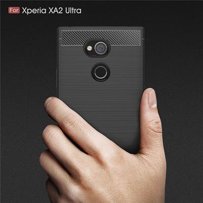 promo code 55541 da831 Armor Case For Sony Xperia XA2 Ultra Cover Soft Anti-Skid Cover For Sony  Xperia XA2 L2 phone case