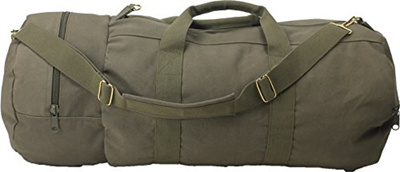 Army Universe Olive Drab Cotton Canvas Military Carry Duffle Double Ender  Sports Gym Shoulder Bag wi 41104b042d2