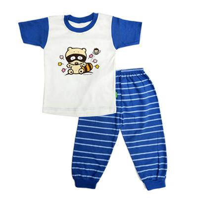 Qoo10 - Arrow Apple Kids - Kids Pajamas - Racoon (2Y-5Y) - Blue ... 014c2312ae