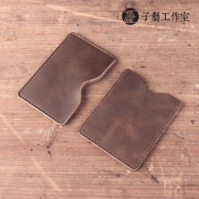 [Art] handmade leather goods leather card holder card access control card  bus card sleeve retro Sen