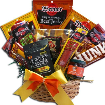 Qoo10 - (Art of Appreciation Gift Baskets) Manly Mans Meat and Snack Attack Gi... : Groceries