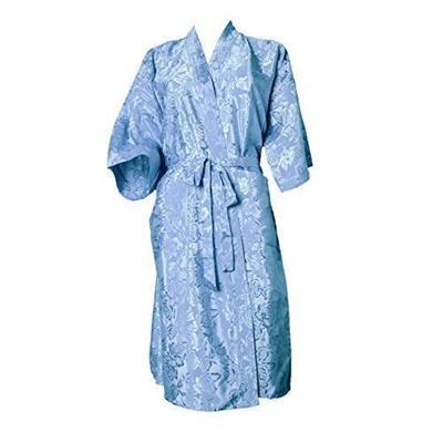 Qoo10 - Artiwa Unisex Lightweight Silk Kimono Bathrobe for Women   Men Rose  Pa...   Household   Bedd. d25fc31a4