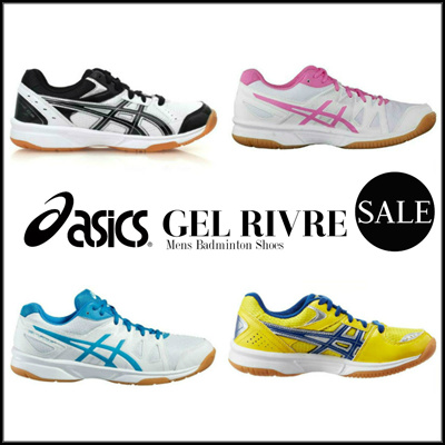 ASICS AUTHENTIC Asics Rivre CS White Black Gum Mens Volleyball Badminton  Shoes