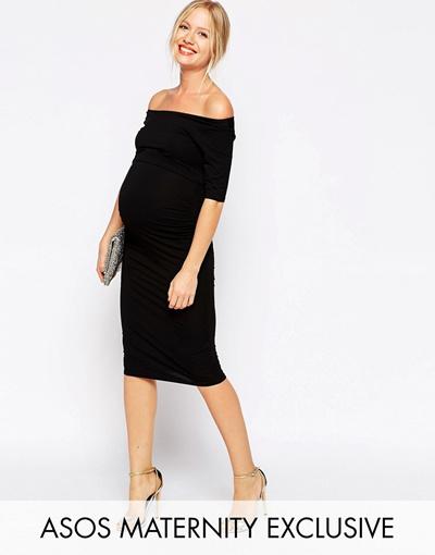 8786175c0c Qoo10 - ASOS Maternity Bardot Dress With Half Sleeve   Women s Fashion