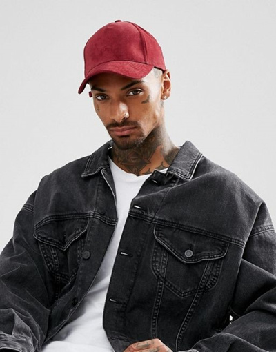 7ffcd17ed882c Qoo10 - ASOS Baseball Cap In Burgundy Cord With CPH Embroidery   Fashion  Accessories