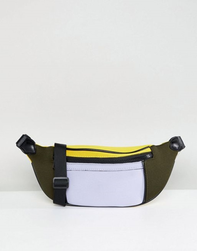 Qoo10 - ASOS DESIGN Color Block Scuba Fanny Pack   Men s Bags   Shoes 72f5979deeb19