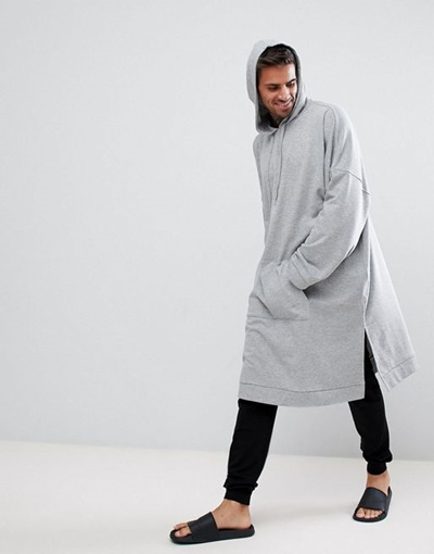 0cc2630f858eb Qoo10 - ASOS Extreme Oversized Super Longline Hoodie With Wide Sleeve :  Men's Clothing