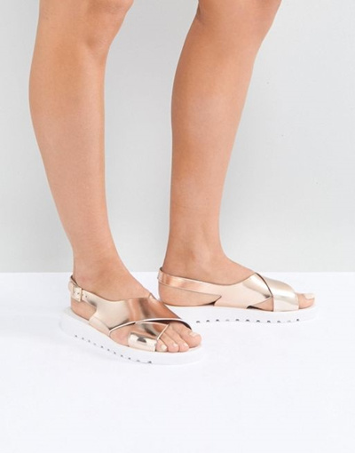 Asos Jelly Flat Jelly Frequent Jelly Flat Asos Asos Sandals Frequent Frequent Sandals Flat 9WEDI2H