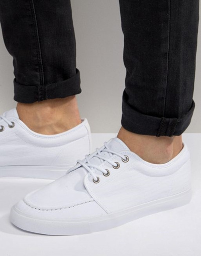 d9bc36e1ce0d0 Qoo10 - ASOS Lace Up Sneakers in White Canvas : Shoes