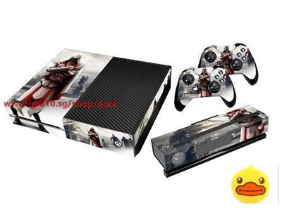 Assassins Creed Designer Skin Sticker For Xbox One Console With Two  Controller Decals (Size: 1)