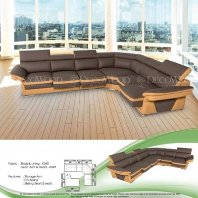 Atlanta L-Shape Fully Leather Sofa Lounge Chair Living Hall Sofa Chair With  10 Years Warranty