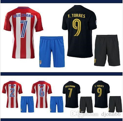 check out 1b5dc d9477 Atletico Madrid Jersey 2016 2017 TORRES home away GRIEZMANN thai quality  Atletico Madrid football sh