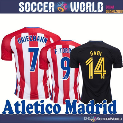 new concept d747e 870f9 atletico madrid jerseys Top thai quality Atletico Madrid GRIEZMANN F.TORRES  GODIN KOKE GABI home and