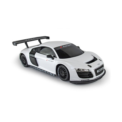Qoo Audi R LMS Remote Control Model Car White Black Toys - Audi remote control car