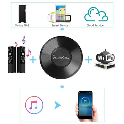 AudioCast M5 wifi music box multi-room simultaneous playback wireless audio  rece