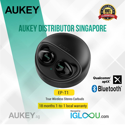 33223f3197f Qoo10 - Aukey True Wireless : Mobile Devices