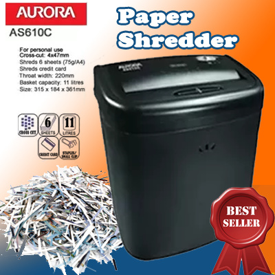 Aurora As610c Paper Shredder Machine Local Singapore Er Office Fast Delivery Compact