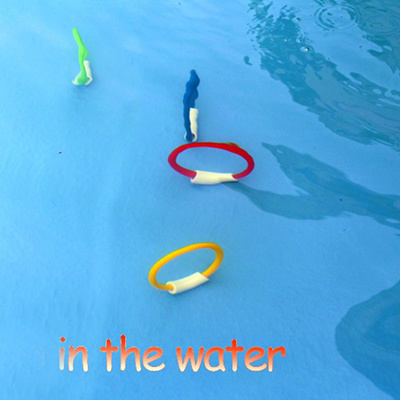 authentic 4PCS/Lot Dive Ring Swimming Pool Accessory Toy Swimming Aid for  Children Kids Water Play D