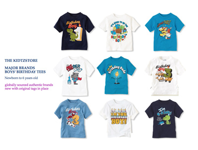 AUTHENTIC GYMBOREE THE CHILDRENS PLACE BOYS BIRTHDAY TEES 9m To 7T