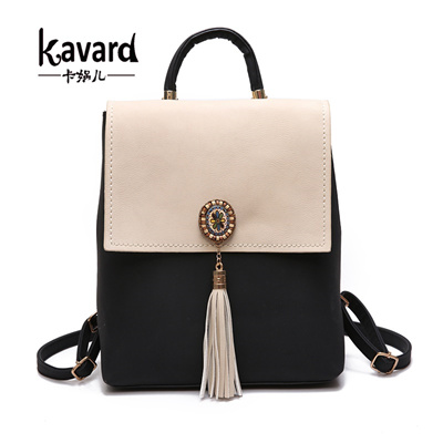b1f21ad517b7 Qoo10 - authentic Kavard Tassel Women Small Backpack PU Leather Women s  Backpa...   Bag   Wallet