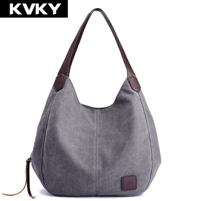 0dc82ab8bdee authentic KVKY Brand Women s Canvas Handbags High Quality Female Hobos  Single Shoulder Bags Vintage