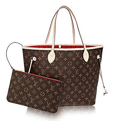 Qoo10 - Authentic Louis Vuitton Neverfull MM Monogram Canvas Cherry Handbag  Ar...   Bag   Wallet 5df64b9ab1666