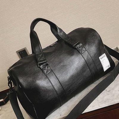 7131561ca6dc authentic Mens PU Leather Gym Bag Male Big Sports Bag For Fitness Men Women  Handbags Training