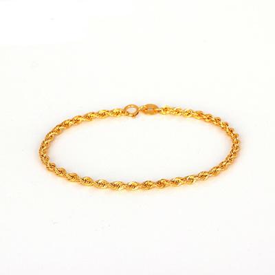Qoo10 Authentic New Au750 Pure 18k Yellow Gold Bracelet Women Rope