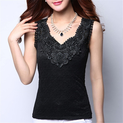72eaeadc3ae44 Qoo10 - authentic Plus Size Women Summer Sexy Blouse Shirt Elegant  Sleeveless ...   Women s Clothing