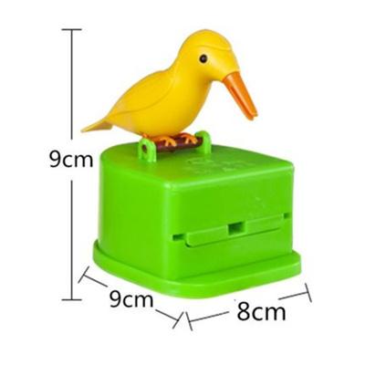 Automatic Toothpick Box Cartoon Bird Push Type Toothpick Holder Toothpick Dispenser Storage Box