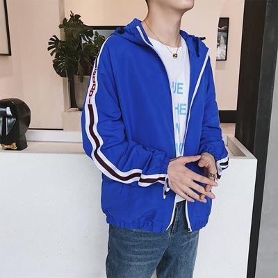 10a5324031 Qoo10 - Autumn New Jacket Male Couple Jacket Korean Fashion Knit Strip Coat  Wi... : Men's Clothing