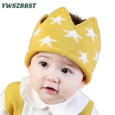 Qoo10 - Autumn Winter Crochet Baby Hat Star Print Crown Cotton Hat Boys  Girls ...   Baby   Maternity c7855147ddc2