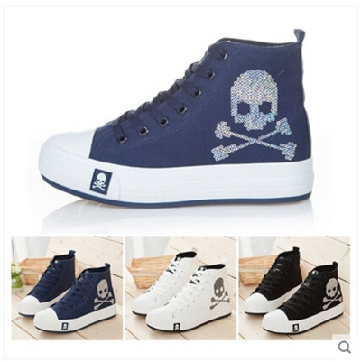 Top Qoo10 High Womens Female Shoes Canvas Autumn Korean fgY76by