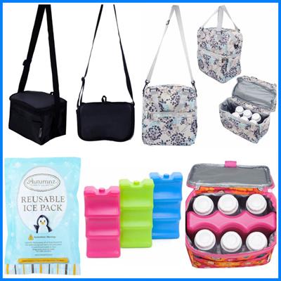a5d4b2171584 Autumnz Cooler bag / Ice pack - Breast pump breast milk Breastmilk / Food  storage dual compartment c
