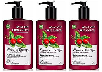Avalon Organics CoQ10 Facial Cleansing Milk 8.50 oz (Pack of 3) Girl12Queen 3 Pcs Blackhead Acne Pimple Blemish Extractor Remover Clip Needle Tweezers Tools