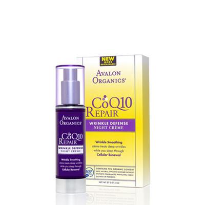 Avalon Organics CoQ10 Wrinkle Defense Creme, 1.75 Fl Oz 6 Pack - Peter Thomas Roth Rose Stem Cell Bio Repair Gel Mask 5 oz
