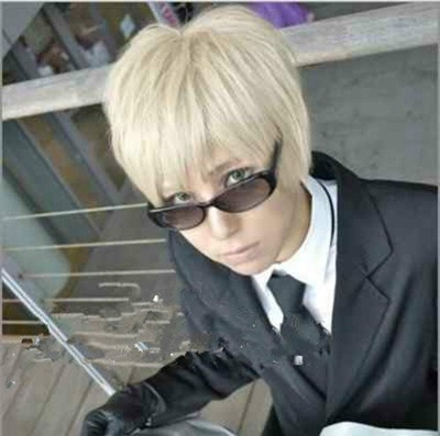 Qoo10 - Axis Powers Hetalia England Short Blonde Cosplay Anime Hair Wig    Women s Clothing db86d0875
