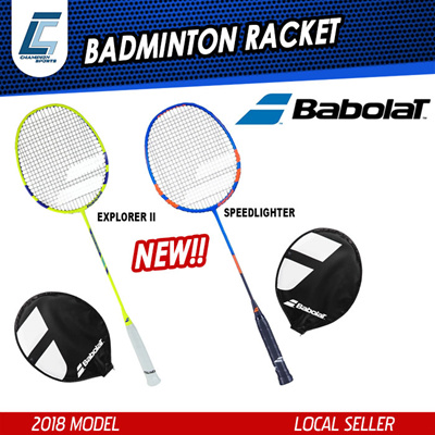 bdb352fb39 OFFERBABOLAT BADMINTON RACKET EXPLORER II SPEEDLIGHTER (FREE RACKET COVER)☆  As