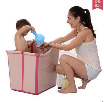 Qoo10 - Baby bath folding bath barrel children child sitting baby ...