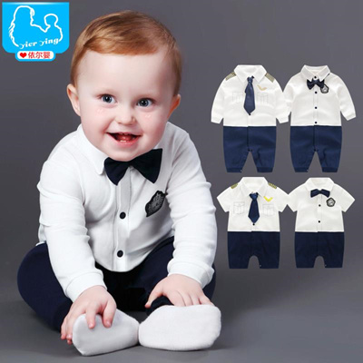 de673888701 Qoo10 - Baby Boy Rompers Children Summer Beard Style Gentleman Suits  One-piece...   Kids Fashion
