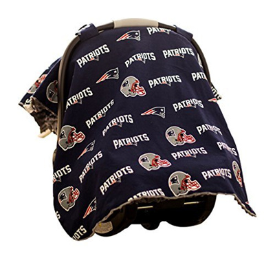 low priced 5a04d 059ed Baby Fanatic Car Seat Canopy, New England Patriots