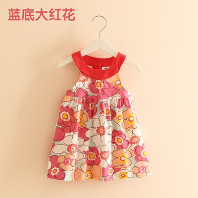 ac1d30eaacd2 Qoo10 - Baby Flower Vest dress 2018 Summer New South Korean girls children s  w...   Kids Fashion