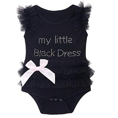 d55de956d9d Qoo10 - Baby Girl Cute Black One Piece Romper Cute Flower Jumpsuit Fashion  My ...   Services