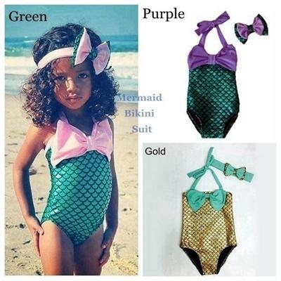 975bd3dcaf Qoo10 - Baby Girl Kids Mermaid Bikini Swimsuit   Baby   Maternity
