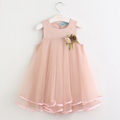 cb6d6f686a1d6 Baby Girls Princess Dresses Summer Cotton Kids Clothes 3 4 5 6 7 Years  Sleeveless Casual Style