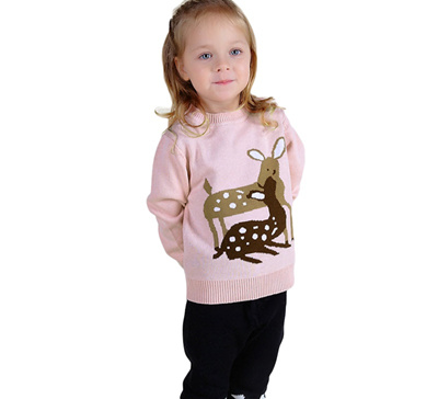 Qoo10 Baby Girls Sweaters 2016 Ins Hot Cute Deer Embroidery Pink
